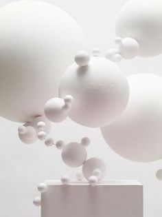 White art installation by justine