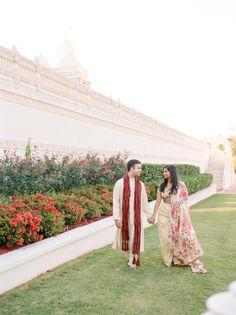 Elegant engagement session: http://www.stylemepretty.com/2017/01/11/stunning-hindu-temple-engagement-session-in-atlanta/ Photography: Elle Golden - http://www.ellegolden.com/