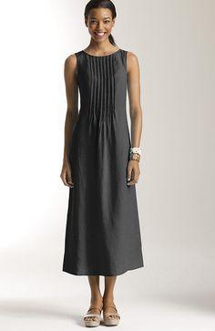554cab96cf sleeveless pintucked linen dress at J.Jill Linen Dresses