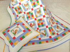 Купить Детское Лоскутное Одеяло Веселые мишки - лоскутное одеяло, детское лоскутное одеяло