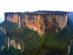 Mount Roraima – A tabletop mountain on the border between Venezuela, Brazil and Guyana.