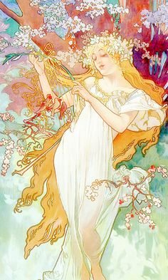 ♥ little bird ♥, claudia-cher: Art by Alphonse Mucha