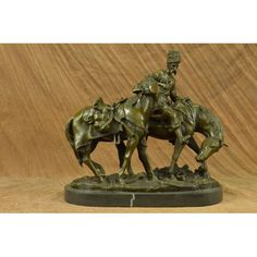 ON SALE !!! Hot Cast Cossack Plunder By Russian Artist Lanceray Bronze Sculpture Statue Deco...The Cossack Plunder Sculpture By Yevgeni Lanceray Is A Tabletop Sculpture Featuring Animals Carrying Heavy Loads. It Beautiful Depicts Two Beasts Of Burden, One With A Man On It And The Other With Packs. These Beasts Are Frozen In Mid Step As They Travel Off To Some Distant Land. This Indoor Sculpture Is Beautiful And Will Add A Sense Of Melancholy To Any Location. 100% Real Bronze And Handmade…