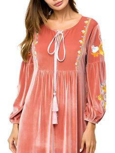 Velvet Embroidery Long Sleeve Pink Muslim Long Dress Source by dresses Cheap Maxi Dresses, Party Wear Dresses, Long Dresses, Stylish Dresses For Girls, Stylish Dress Designs, Kurti Neck Designs, Kurti Designs Party Wear, Abaya Fashion, Muslim Fashion