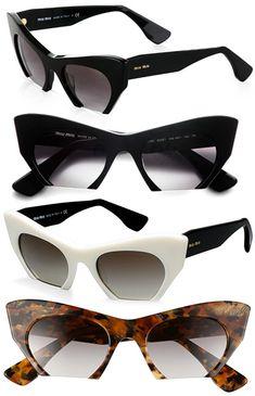 8d04c09c2b9 Miu Miu Rasoir Semi-Rimless Cat Eye Sunglasses Glasses Frames