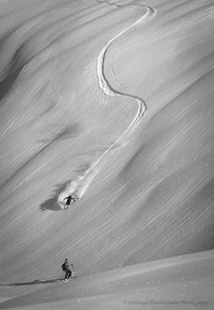 powder skiing in Ski Amade, Zauchensee, Austria /// Incoming by Christoph Oberschneider on 500px