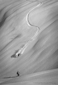 powder skiing in Ski Amade, Zauchensee, Austria /// Incoming  by Christoph Oberschneider on 500px