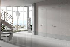 Swinging doors flush with the wall: Essential by Scrigno Flush Doors, Swinging Doors, Internal Doors, Patio Doors, My House, Loft, Indoor, Wall, Arredamento