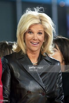 Joan Lunden during Carlos Santana & Michelle Branch perform on 'Good Morning America' - November 3, 2005 at Time Square in New York City, New York, United States.