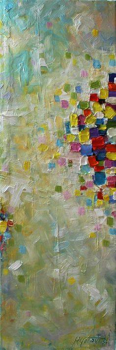 Original Oil Painting Celebration Modern Contemporary by mgotovac, $100.00