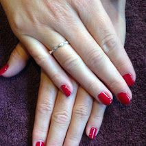 Long Ashes Pure Spa - GELeration Overlay Manicure done today in Winter Berries.