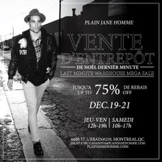 LAST MINUTE HOLIDAY SALE IN MONTREAL WAREHOUSE!!!!