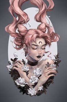 """celtis-art: """"Print set available at AnimeNYC! Find me at Table in the Artist Alley. Art And Illustration, Demon Drawings, Cool Drawings, Fantasy Kunst, Fantasy Art, Mustang, Dibujos Tumblr A Color, Arte Sailor Moon, Instagram Prints"""