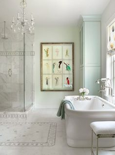 The Green House - Traditional - Bathroom - St Louis - Mitchell Wall Architecture & Design.  cool shape tub