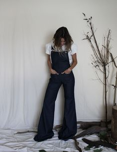 Martha Denim Dungarees Denim Dungarees, Overalls, Handmade Clothes, Trousers, Pants, Bell Bottom Jeans, Skirts, Red, Cotton