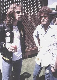 Glenn Frey and Don Henley..this is backstage at Bill Graham Day on the Green Concert 1977.  I was there backstage too....good memories.