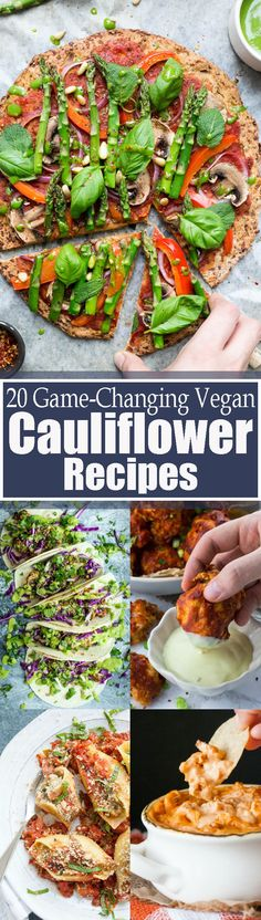 These 20 stunning vegan cauliflower recipes will definitely change the way you look at cauliflower! You can make so many creative recipes with it! All of these recipes are super healthy and so incredibly delicious! BIG yum!! Vegan food can be so AMAZING! Find more vegan recipes at veganheaven.org <3