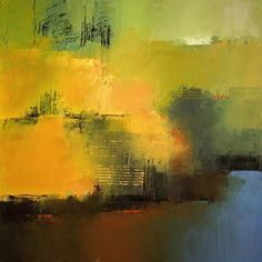 "Irma Cerese - Sheep Pasture #18 - acrylic on canvas - 18""x18"""