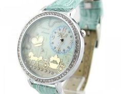 Code: QY-W1305-02Name: Mint Green Polymer Clay Carriage WatchColor: mint greenSize: 4.0*4.0cm dial, 22.5cm strapMaterial: single side leatherPrice ($): 29.99Look after me: avoid contact with liquids