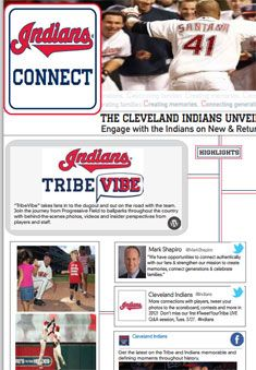 The Tribe is even more social in 2012. Take a look at our interactive graphic and explore all the ways you can connect with the #Indians.