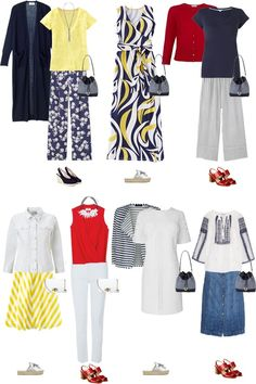 Beautiful done for you capsule wardrobes Capsule Wardrobe, Capsule Outfits, Chic Outfits, Summer Outfits, Fashion Outfits, Womens Fashion, Capsule Clothing, Cruise Outfits, Travel Wardrobe