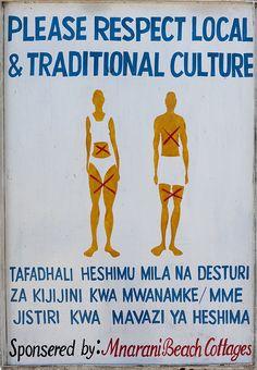 Dress code on Zanzibar beaches, Tanzania by Eric Lafforgue