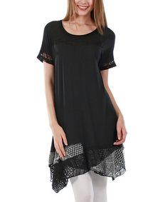 Love this Black & Gray Tiered Handkerchief Tunic on #zulily! #zulilyfinds