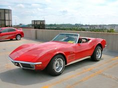 1970 corvette stingray...ultimate hot car!  (Mine was a 1969, a pop-top, not a convertibe, but it WAS red definitely!)