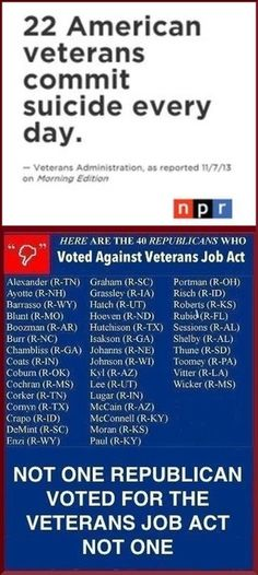 Women are veterans too. Vote these horrible Republicans out!