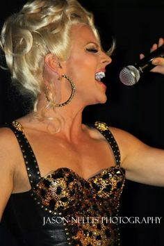 Courtney Act performing in Indianapolis, IN.   Photo © Jason Nellis Photography.