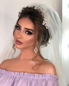- Lilly is Love Wedding Eye Makeup, Bridal Hair And Makeup, Wedding Beauty, Hair Makeup, Bridal Hairdo, Hairdo Wedding, Braut Make-up, Bride Hairstyles, Prom Hair