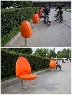 Urban Furniture, Street Furniture, Furniture Design, Chair Design, Patio Design, Outdoor Art, Outdoor Seating, Outdoor Patios, Outdoor Rooms