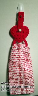 Heart Towel Topper Ring