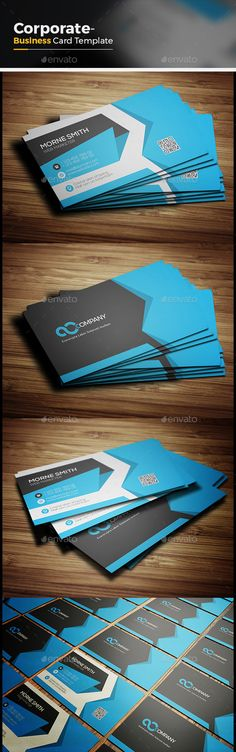 Corporate Business Card Template is very easy to use andchange text,color,shape,size,look and everything because i made it on illu