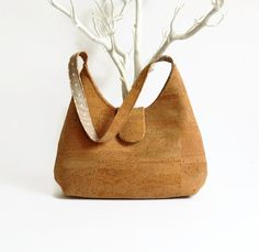 Natural Cork Handmade Bag / Eco Friendly Handbag by MyCottonHouse