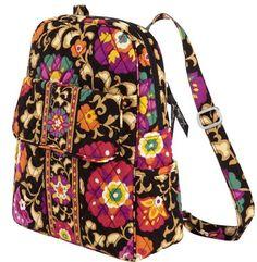 VERA BRADLEY Backpack NEW School Travel Yoga Gym College Suzani
