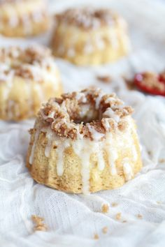 Mini Eggnog Crumble Budnt Cakes with Eggnog Mascarpone Glaze by @Heather Creswell Creswell Creswell Flores Baked Harvest for Grate. Pair. Share. by Wisconsin Cheese ***Delicious!***
