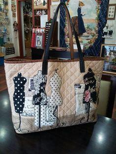 Applique quilt bag - by quiltmari: