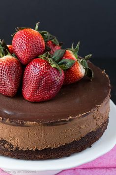 The Best Triple Chocolate Mousse Cake   FaveSouthernRecipes.com
