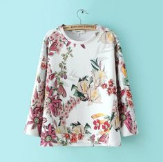 Fashion printed blouse #WE40608PO