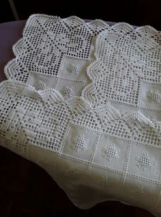 Ivančica Laktašić Ex Kudlek's media content and analytics Zig Zag Crochet, Crochet Boarders, Crochet Quilt, Crochet Tablecloth, Crochet Squares, Crochet Home, Love Crochet, Hand Crochet, Crochet Stitches