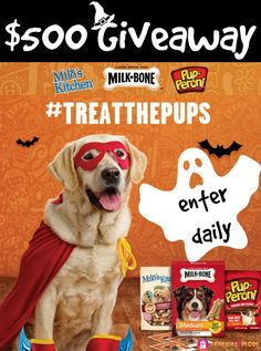 Is your dog wearing a costume for Halloween?  #TreatThePups  $500 Walmart Giveaway + 10 Readers Win Free Product Coupons DAILY ENTRY ---> http://freebies4mom.com/treatthepups #ad (ends  Nov. 7)