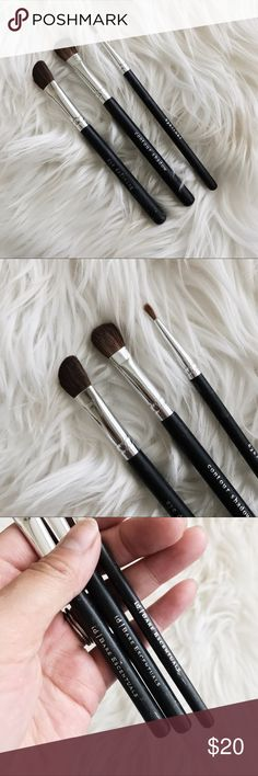 Bare Escentuals Eye Shadow Brush Bundle • brand: bare escentuals  • condition: great, handles have some wear from being in a make up bag. each brush was used 2-3 times.   • description: set of 3, see photos for specific brushes.    • trying to downsize my closet! bundle to save 💰 + accepting reasonable offers, happy shopping! Bare Escentuals Makeup Brushes & Tools