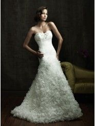 Organza Sweetheart Fitted Bodice Mermaid Wedding Dress