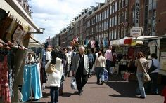 The most famous market of Amsterdam