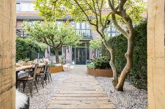 Pergola Patio Videos Ivy - - - Covered Pergola Attached To House Modern Back Gardens, Small Gardens, Outdoor Gardens, Modern Backyard Design, Small Garden Design, Dream Garden, Home And Garden, Summer Garden, Patio Pergola