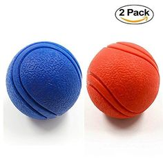 2 Pack YUSEN Tough Rubber Bouncy Tennis Ball Floatable Retrieve Chew Toy Virtually Indestructible for Dogs Water Swimming Pool Play Tennis Size 26 Inch ** Details can be found by clicking on the image. (This is an affiliate link) #DogToyBalls