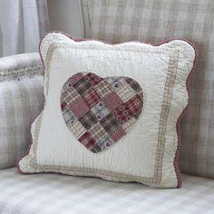 Patchwork heart cushion