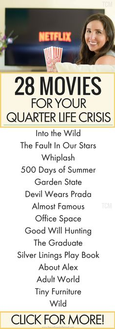 quarter life crisis movies, quarter life crisis books, movies for 20 somethings, movies to watch in your 20s, #quarterlifecrisis, #movies, #20somethingmovies, #millennialmovies