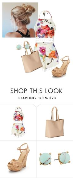 """Summer Day Out"" by kourtneymary on Polyvore featuring Old Navy, Schutz and Carolee"